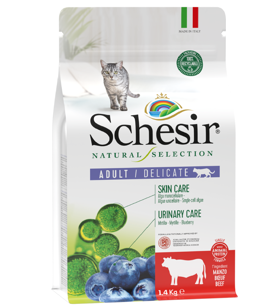 Schesir Cat - Natural Selection - Adult - Manzo - 1.4 kg