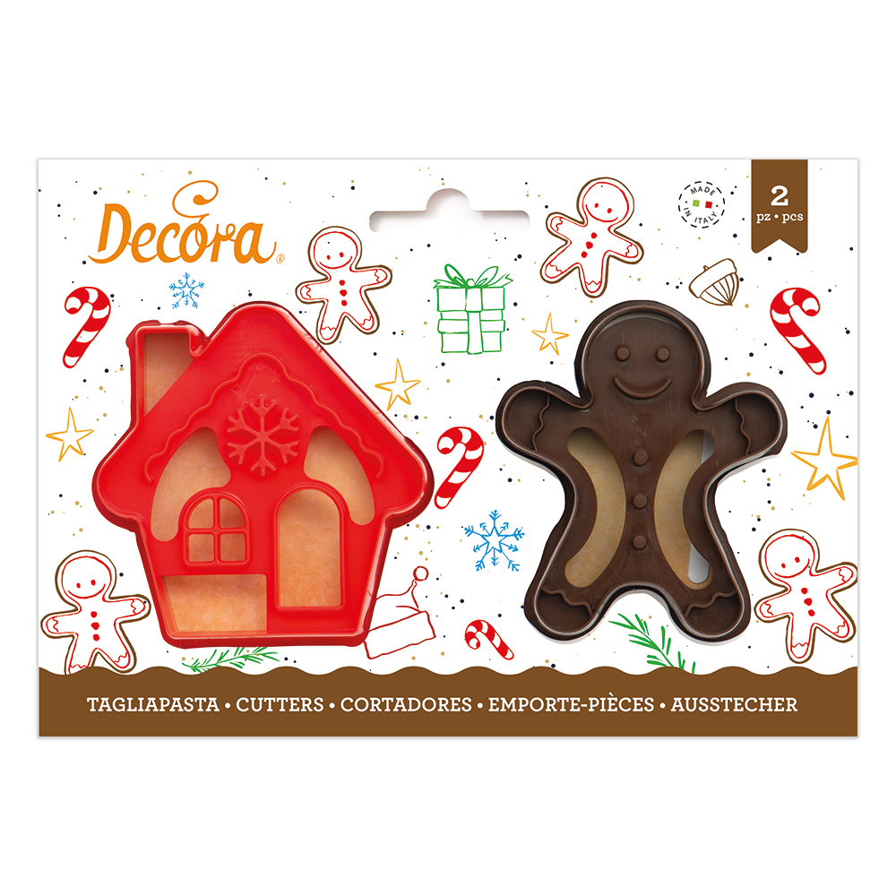 Tagliapasta Gingerbread Man & House