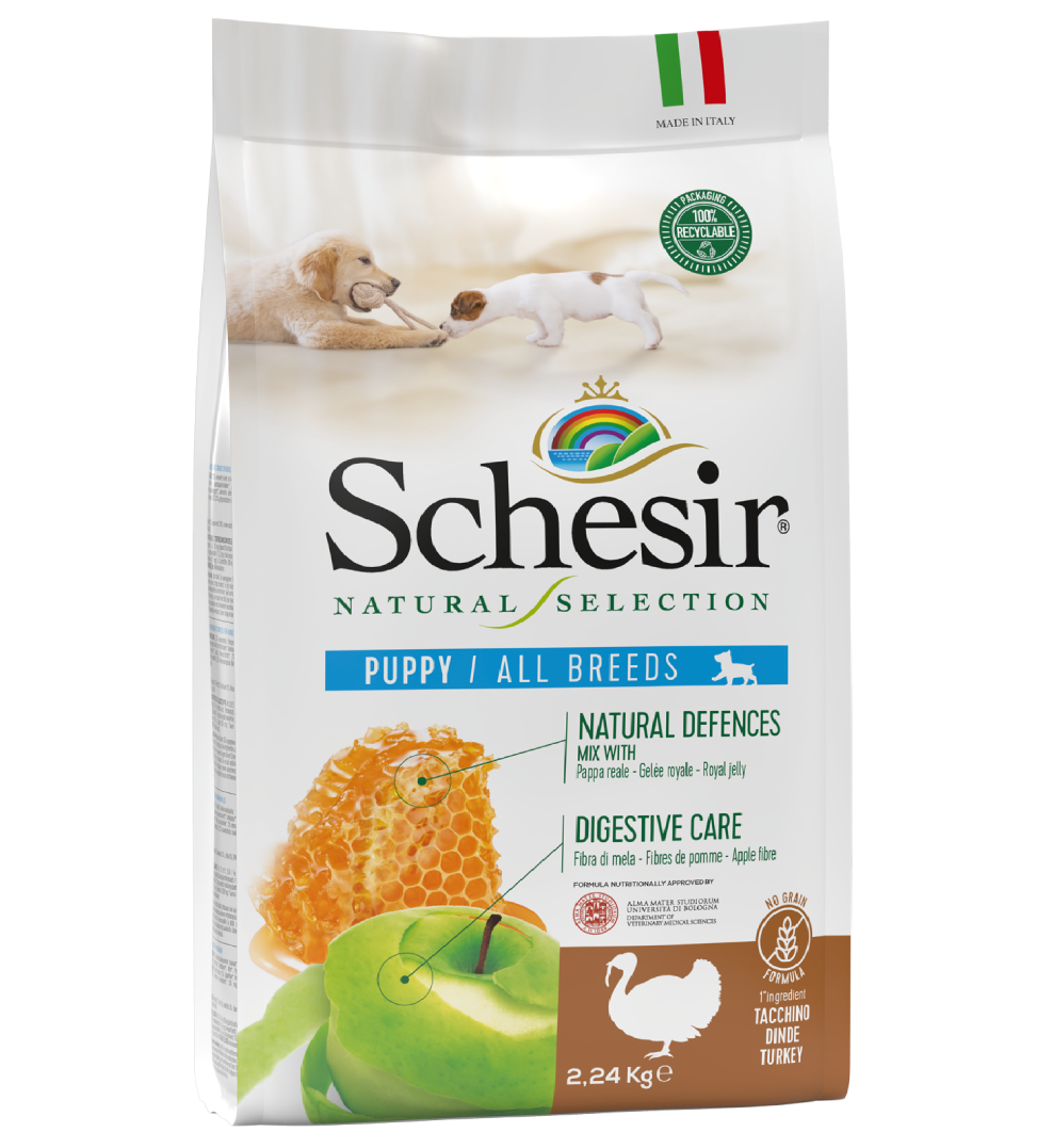 Schesir Dog - Natural Selection - No Grain - All Breeds - Puppy - Tacchino - 2,24 kg