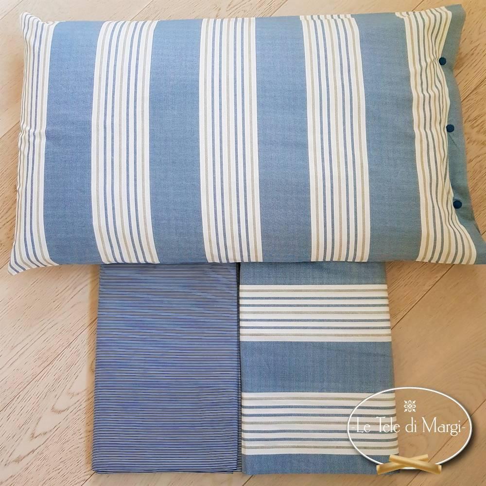 Completo Lenzuola Millerighe blu