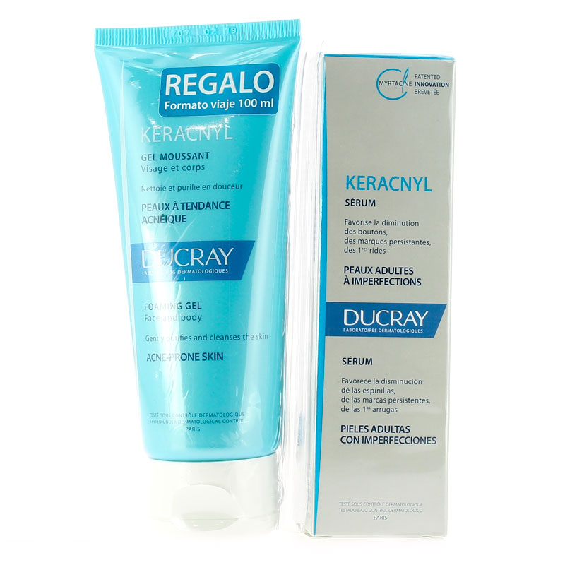 DUCRAY KERACNYL SERUM DUCRAY 30ML + CLEANSING GEL 100ML IN OMAGGIO