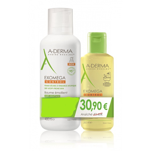 A-derma exomega control balsamo 400ml + olio 200ml