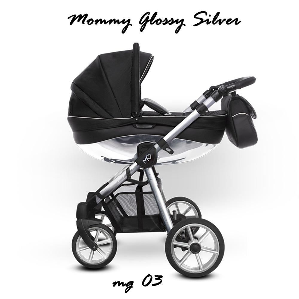 Baby Atelier - TRIO BABYACTIVE MOMMY GLOSSY SILVER - black