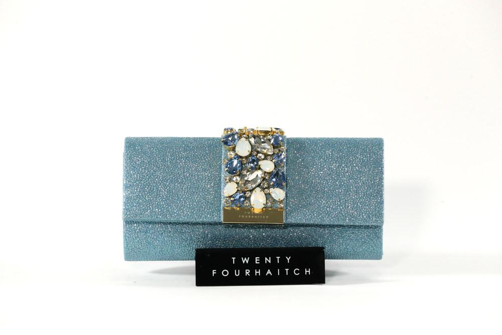 Twenty Fourhaitch-Pochette Donna Florida/Azz. Glitter