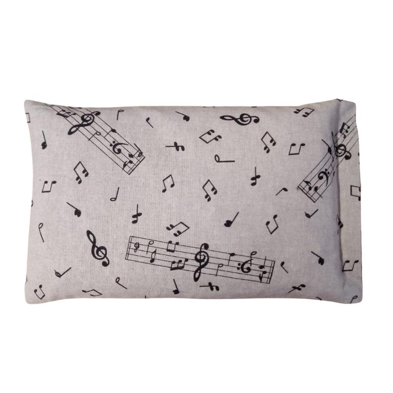 Cuscino con Noccioli di Ciliegia Fantasia Note Musicali