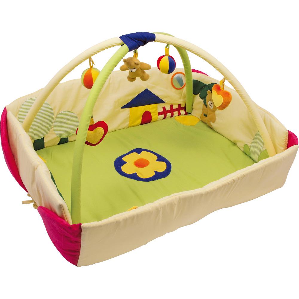 Tappeto palestrina attività con sonagli per neonato. Mod. Orso