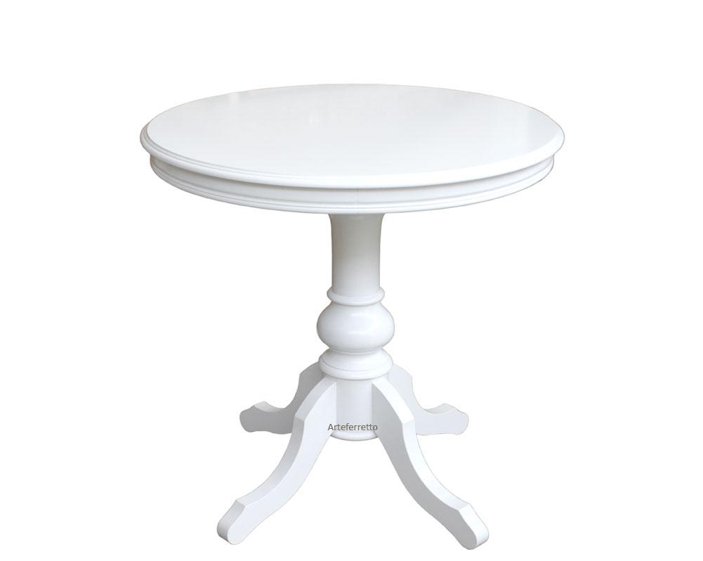 Tavolino rotondo 80 cm laccato