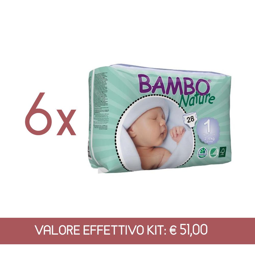 Kit Scorta Pannolini sottili ultrassorbenti New Born 2 - 4 kg - 168 pannolini