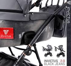 Invictus - Trio Jens - Edizione Limitata - Telaio antracite - Ecopelle jeans BLACK
