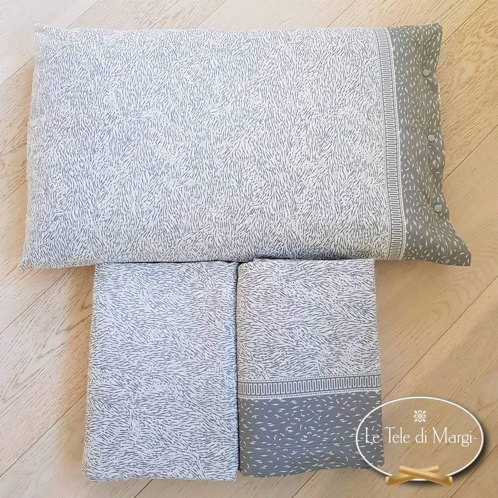 Completo Lenzuola falnella Microanimaliè grigio