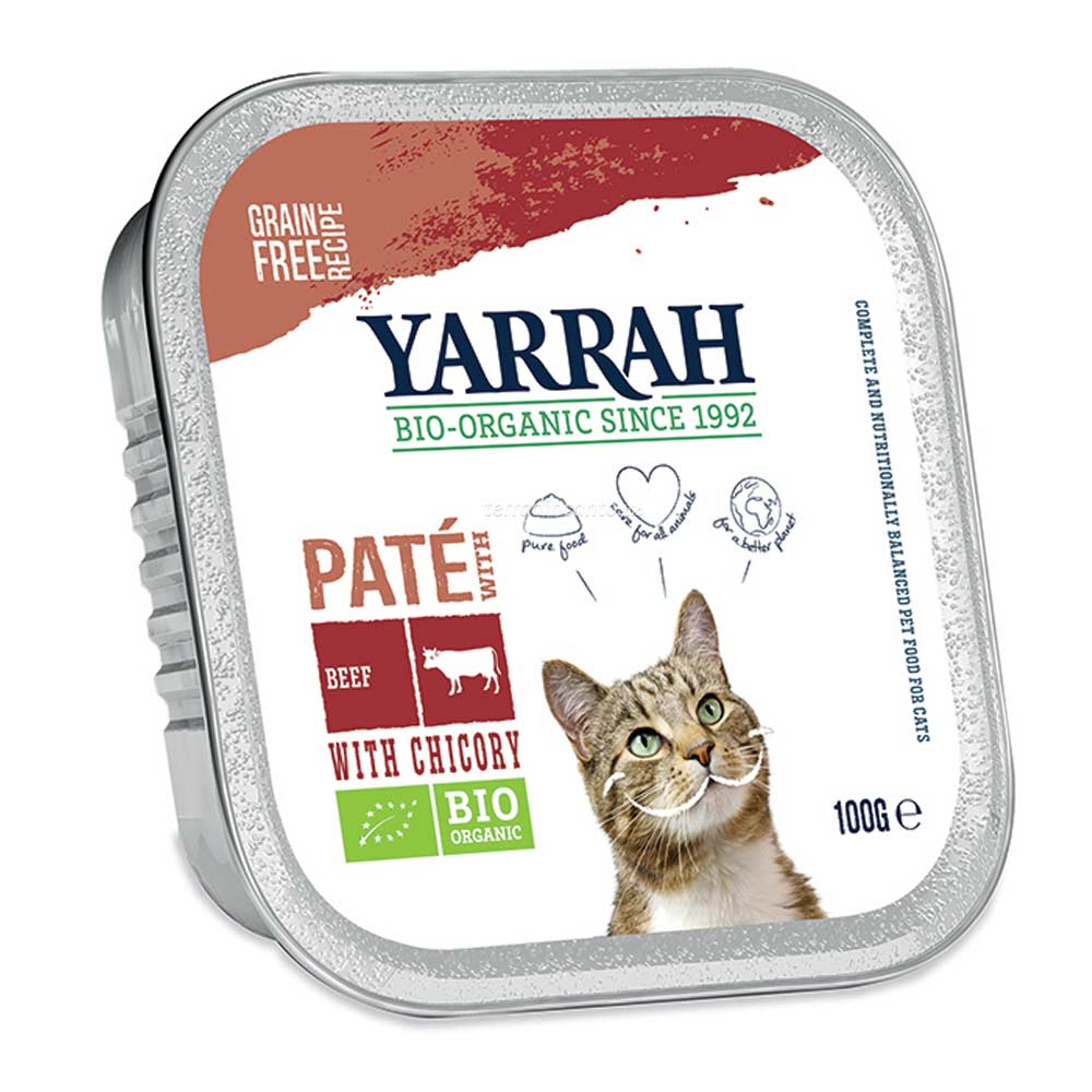 Paté per gatti manzo e cicoria Yarrah