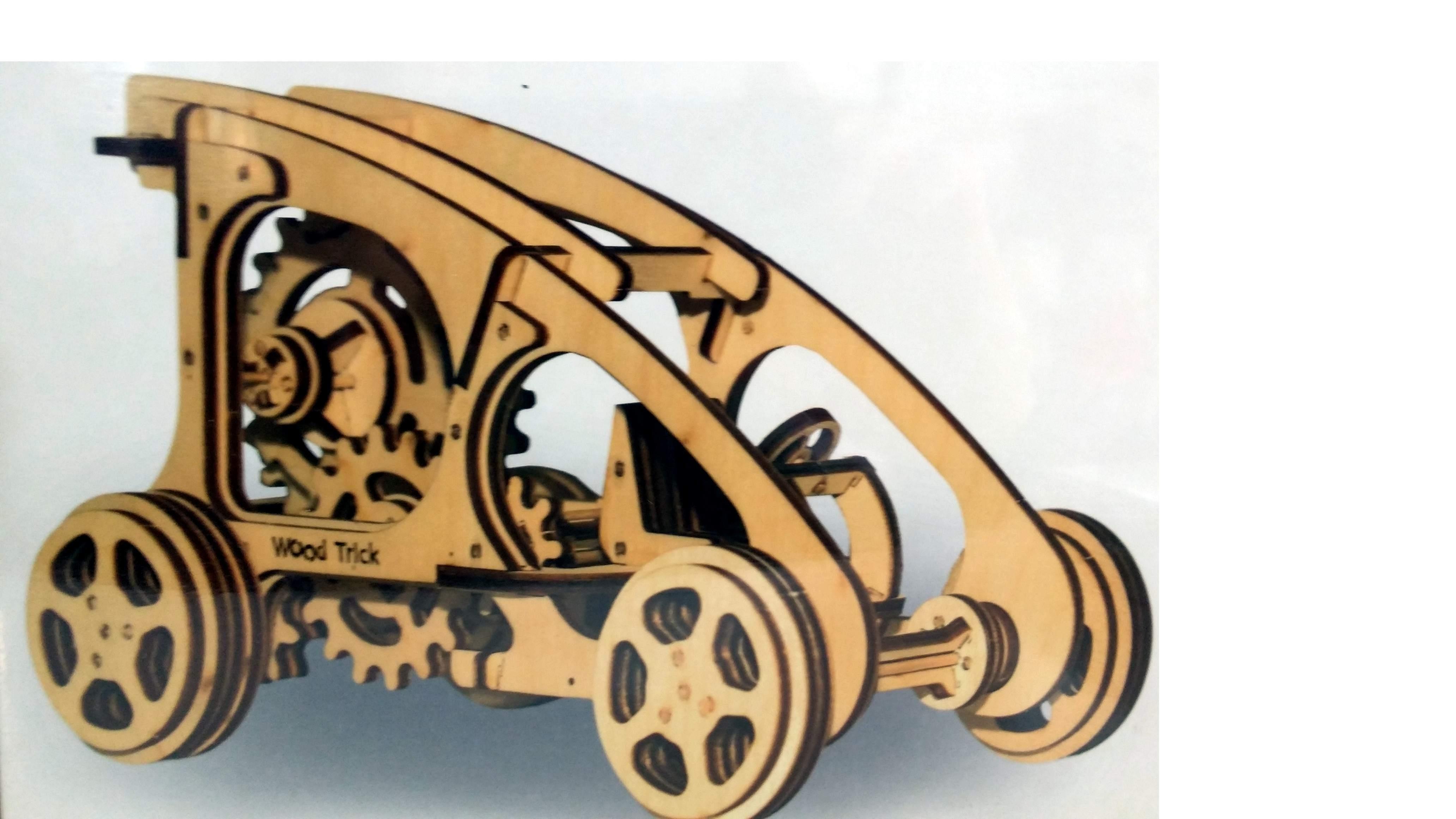 Puzzle 3D 'Buggy' con movimento