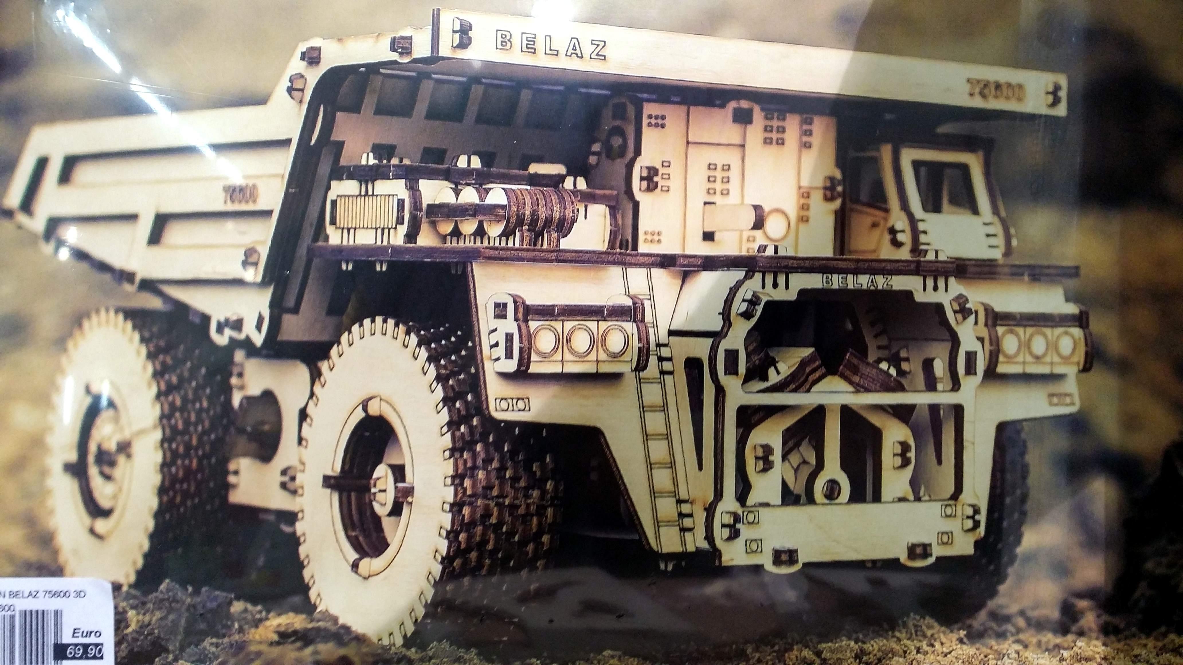 Puzzle 3D 'Camion da cava' con movimento
