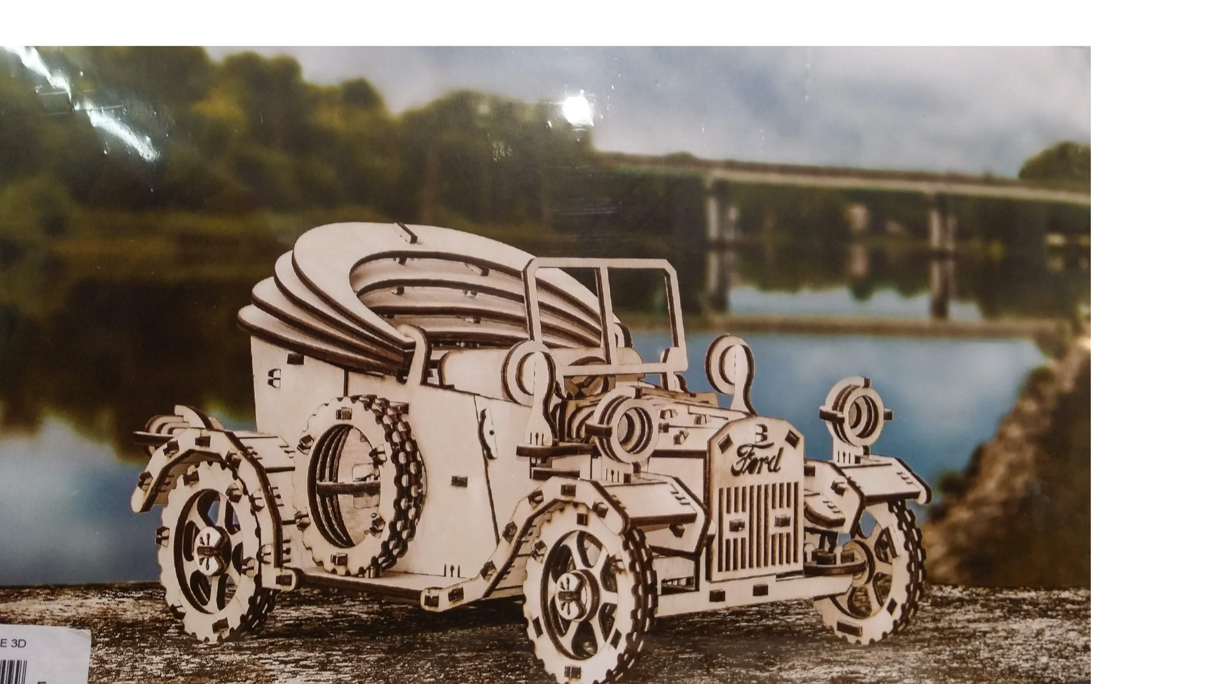 Puzzle 3D 'Ford T' con movimento