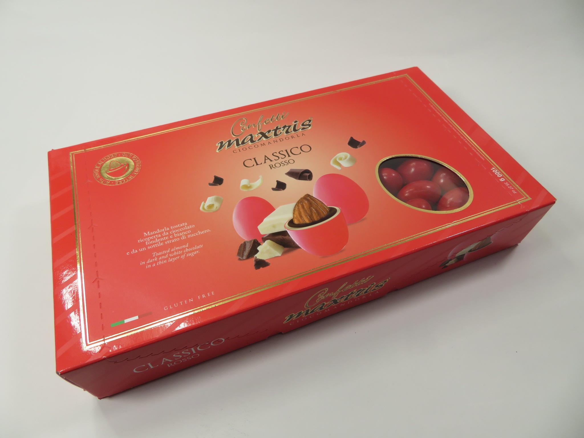 Scatola confetti cioccolato rossi