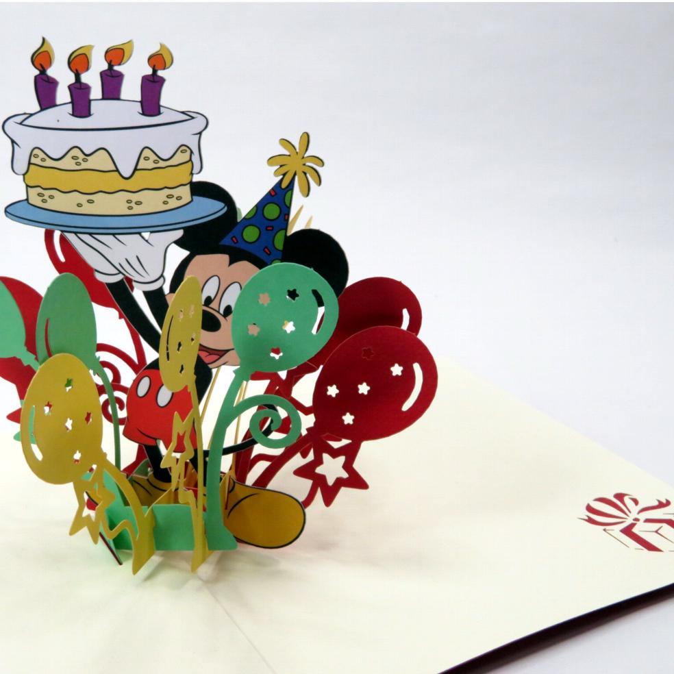 Biglietti augurali 'Mickey compleanno' Origamo