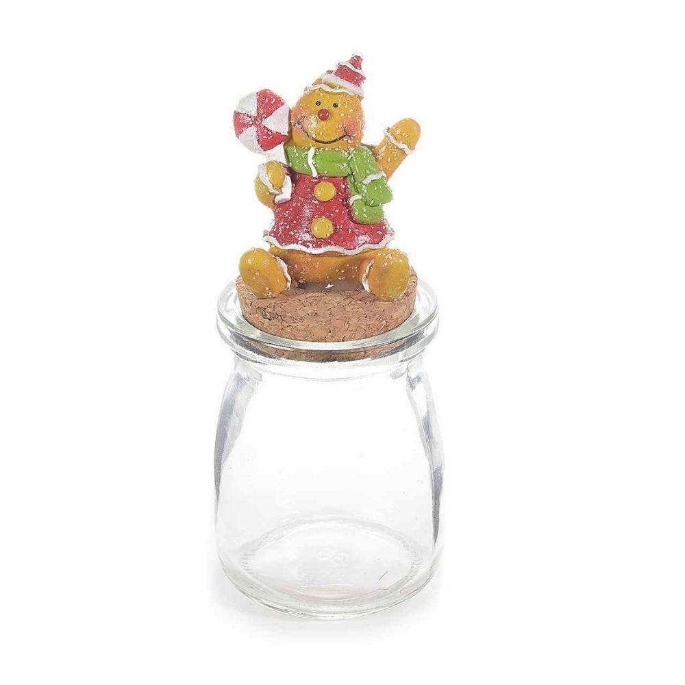 Barattolino vetro con omino pan di zenzero