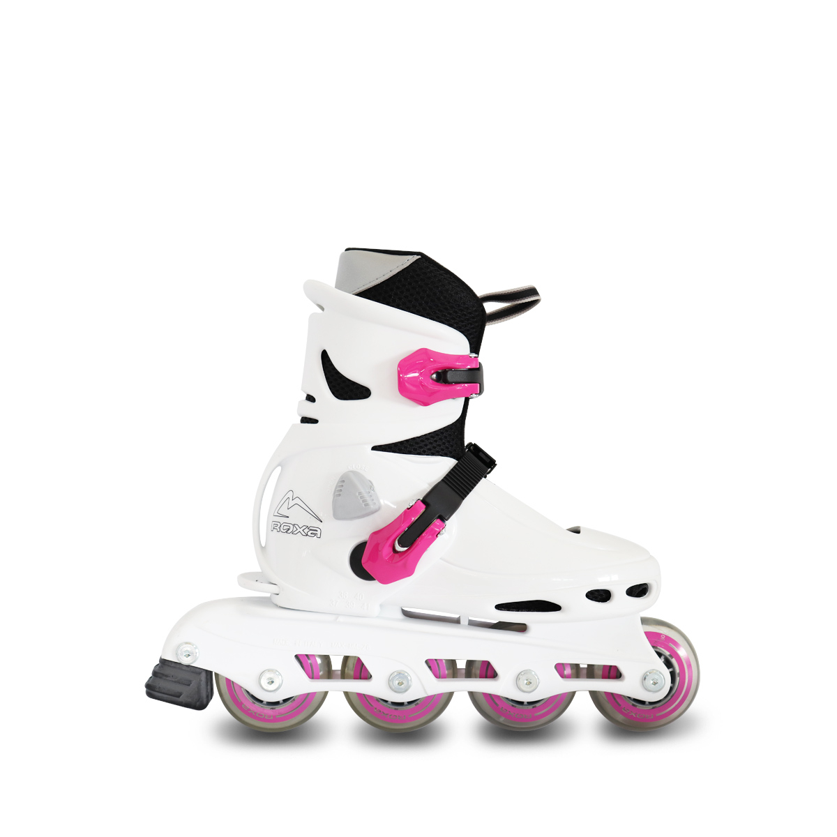 Pattini In Linea ROXA BEETLE ADJUSTABLE WHITE PINK