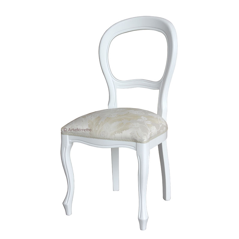 White chair in Louis Philippe style