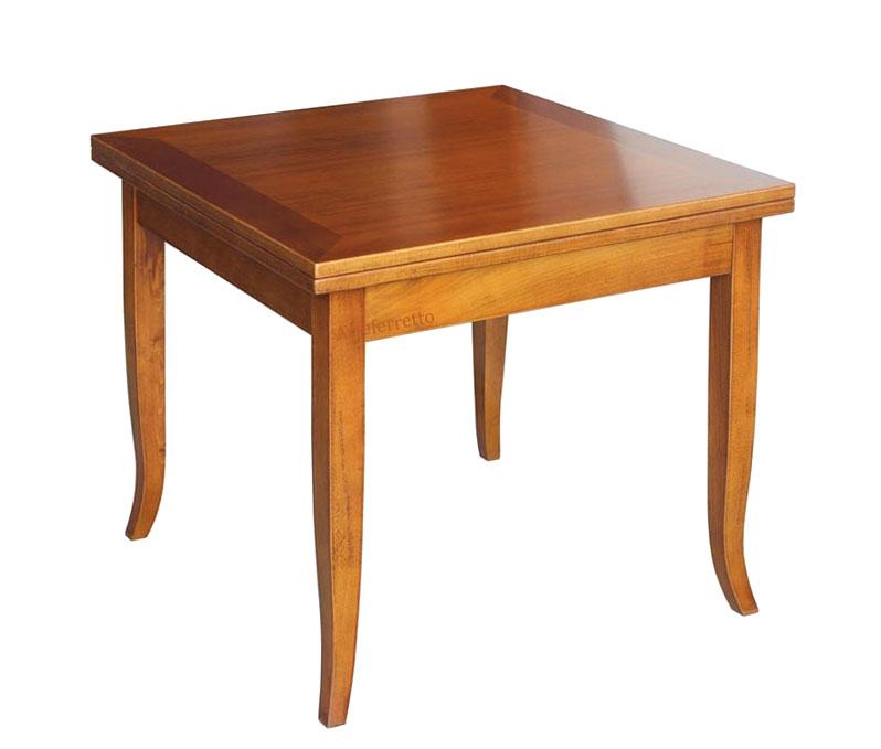 Table à manger carrée extensible 90-180 cm
