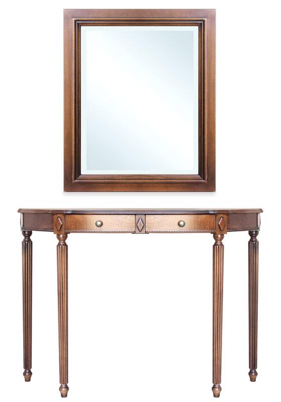 Composition console et miroir pour l'entrée