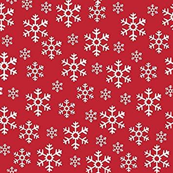 Tovaglioli RED SNOWFLAKES decorati cm. 33x33