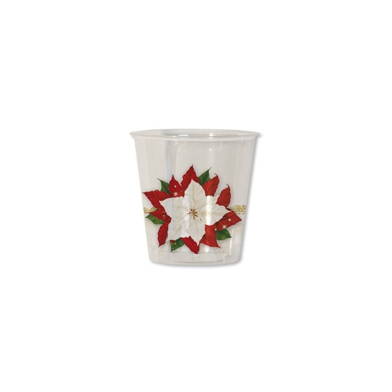 Bicchiere kristall XMAS  FLOWERS