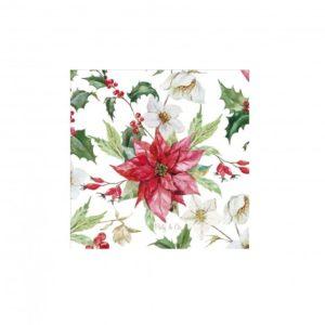 Tovaglioli STELLA ALPINA decorati cm. 33x33