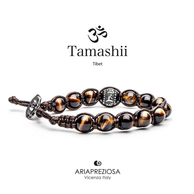 Bracciale Tamashii Ruota Preghiera Occhio di tigre BHS1100-214