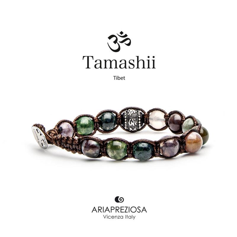 Bracciale Tamashii Ruota Preghiera Agata Muschiata BHS1100-17