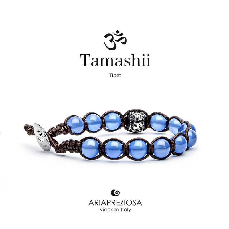 Bracciale Tamashii Ruota Preghiera Agata Blu BHS1100-18