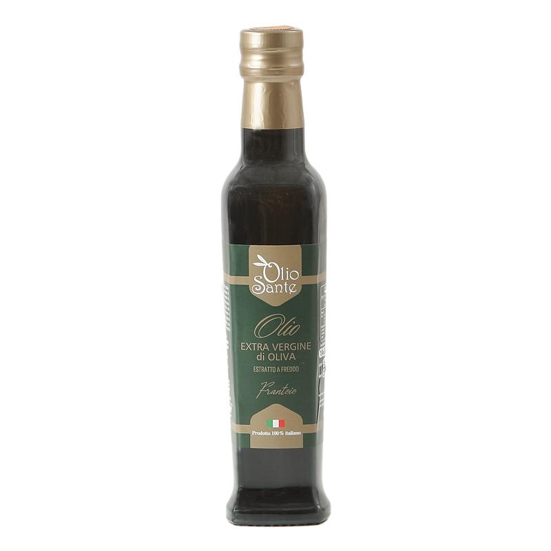 Olio EVO Frantoio 250ml 2020/21 - Olio extravergine di oliva Italiano cultivar Frantoio Sante in bottiglia da 250 ml -