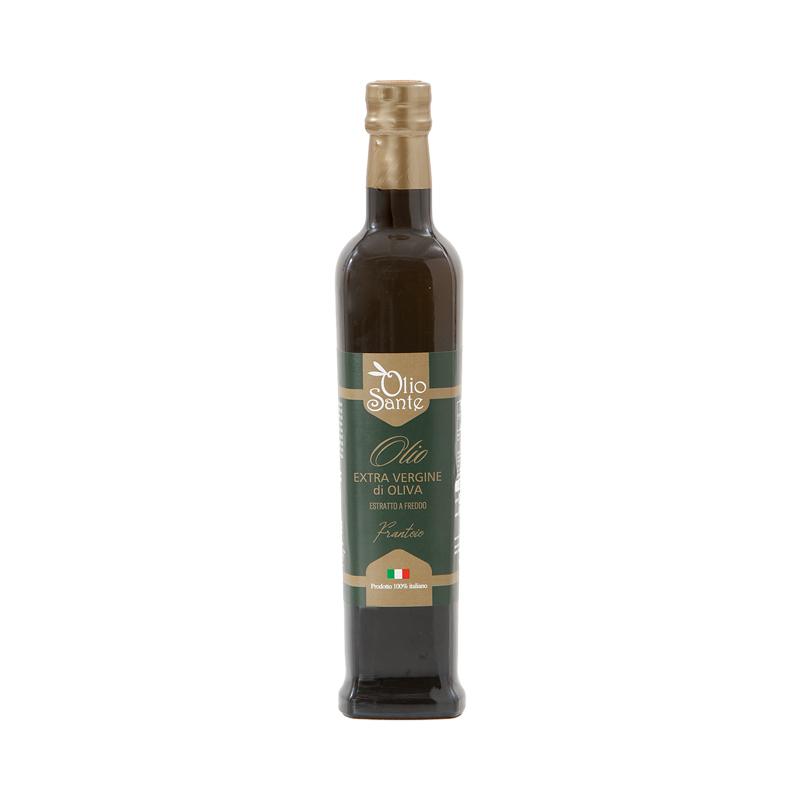 Olio EVO Frantoio 500ml 2020/21- Olio extravergine di oliva Italiano cultivar Frantoio Sante in bottiglia da 500 ml -
