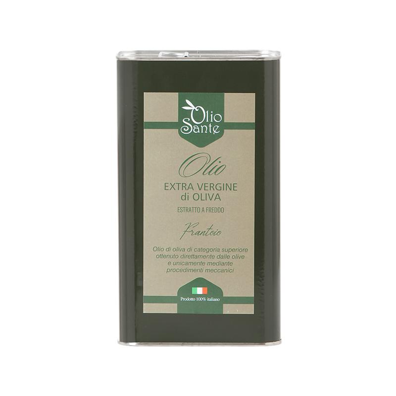 Olio EVO Frantoio 3L 2020/21 - Olio extravergine di oliva Italiano cultivar Frantoio Sante Latta da 3 Litri -