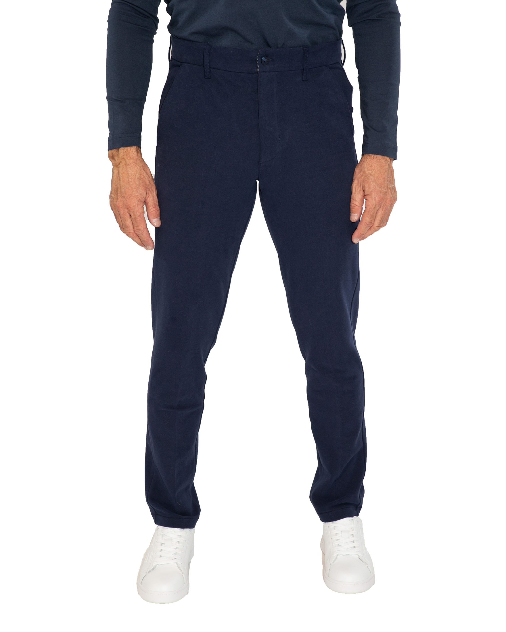 NUMBER BLUE PANTALONE CINOS IN JERSEY