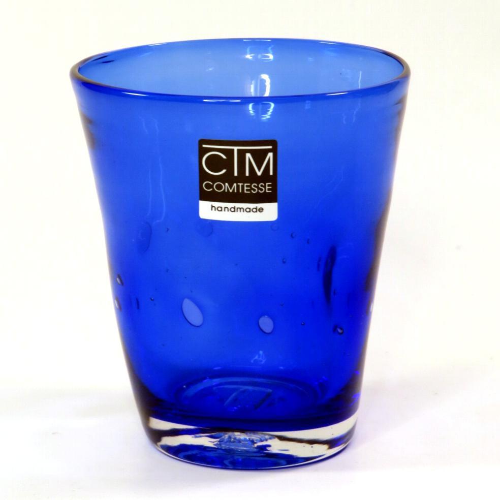 Bicchiere colorato con bolle BLU Samoa