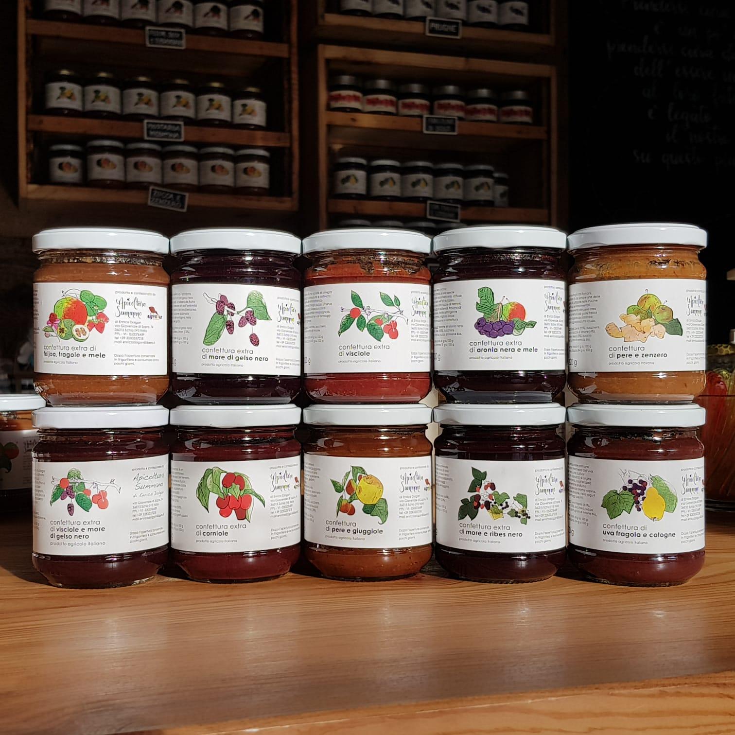 10 confetture Apicoltura Sumano - 3560 gr