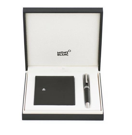 Set Regalo Montblanc Meisterstück con Penna  Platinum Classique e Wallet 6CC