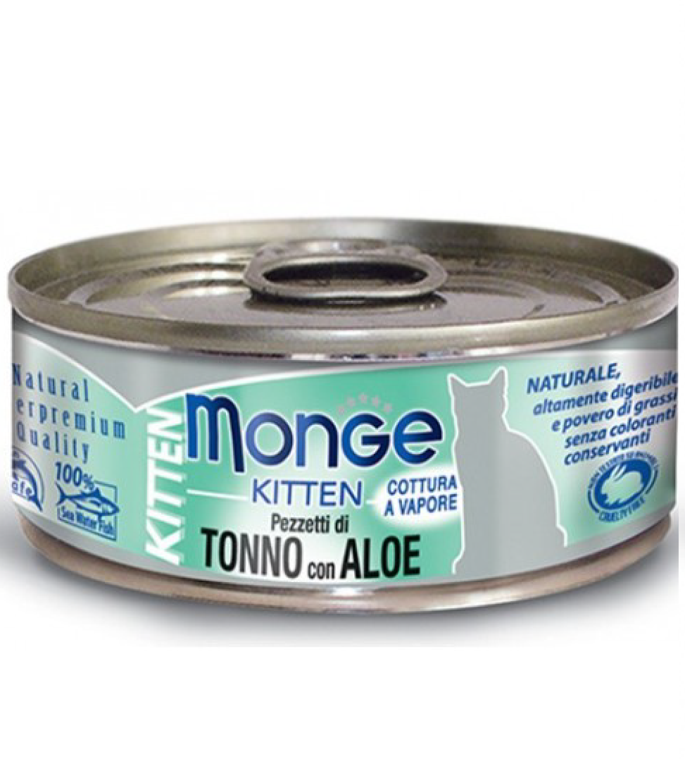 Monge Cat - Natural Superpremium - Jelly - Kitten - Tonno e Aloe - 80g x 6 lattine