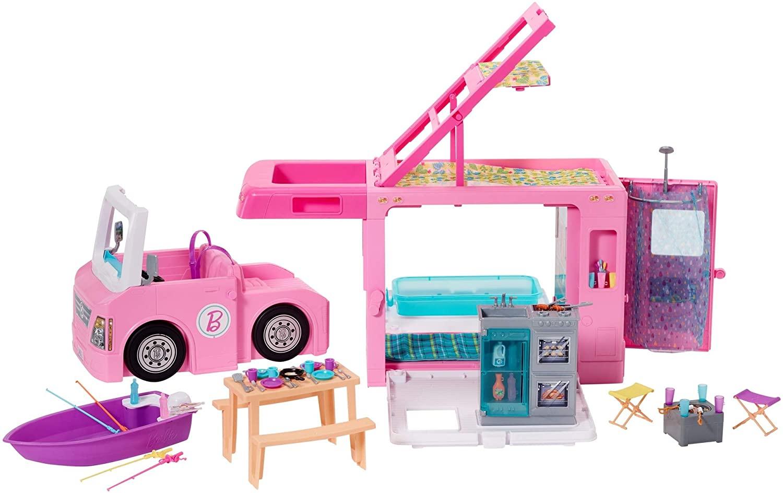 Barbie Camper Rosa 3 in 1