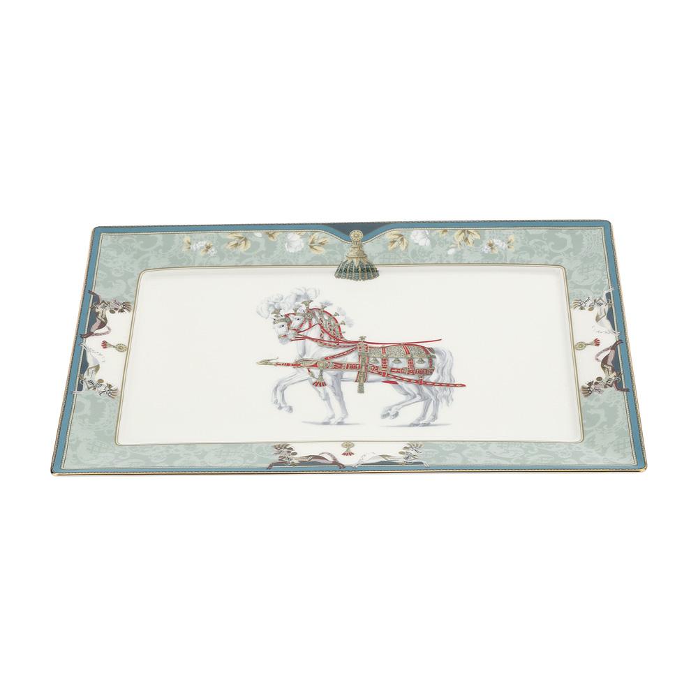 Piatto rettangolare in porcellana New Bone China Hervit