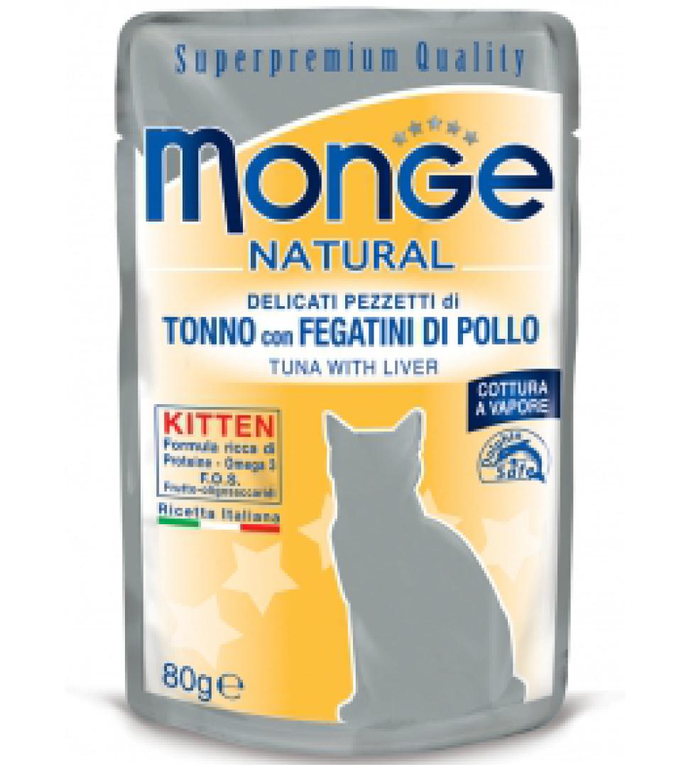 Monge Cat - Superpremium Quality - Natural - Kitten - 80g x 24 buste