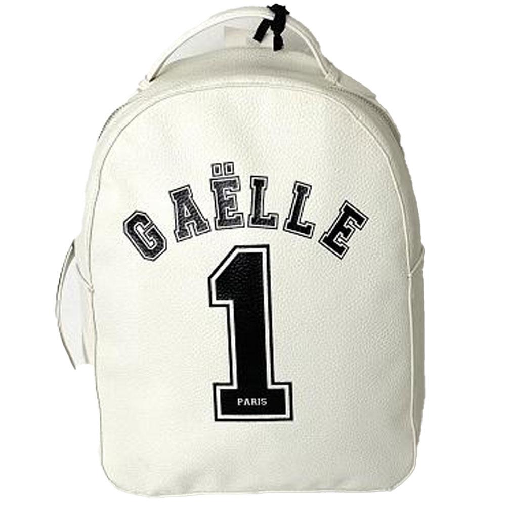 Gaelle Paris Zaino Bianco in Ecopelle con Logo Unisex