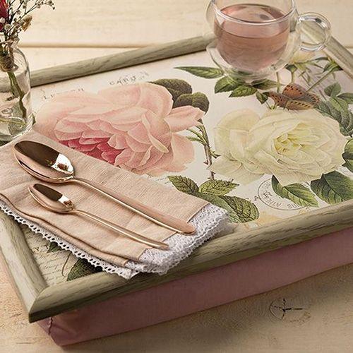 Laptray rose garden