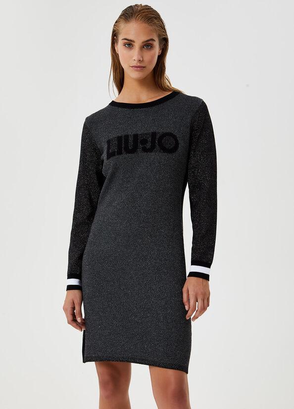 Vestito Jacquard con logo LIU JO