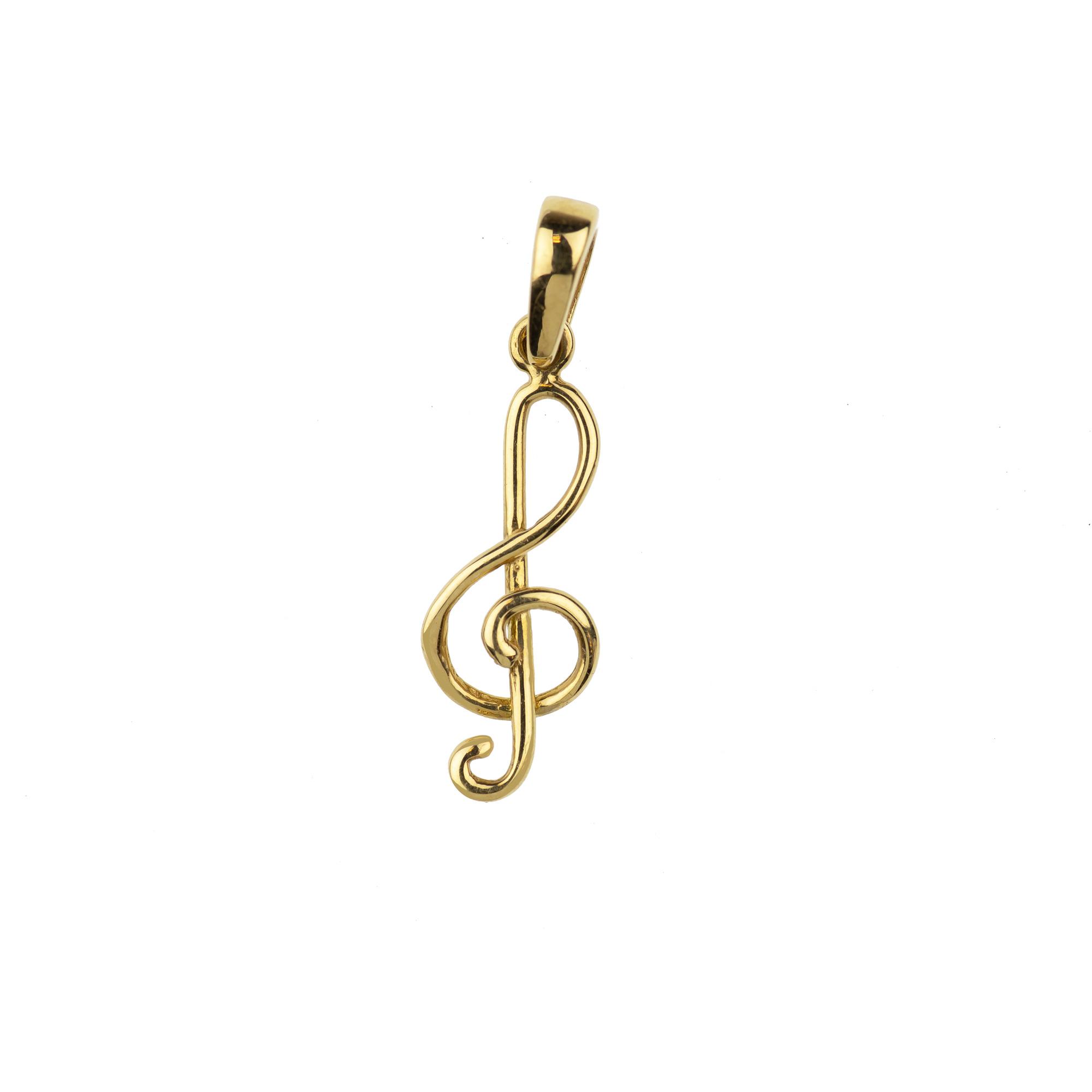 Ciondolo Chiave di Violino Oro18kt