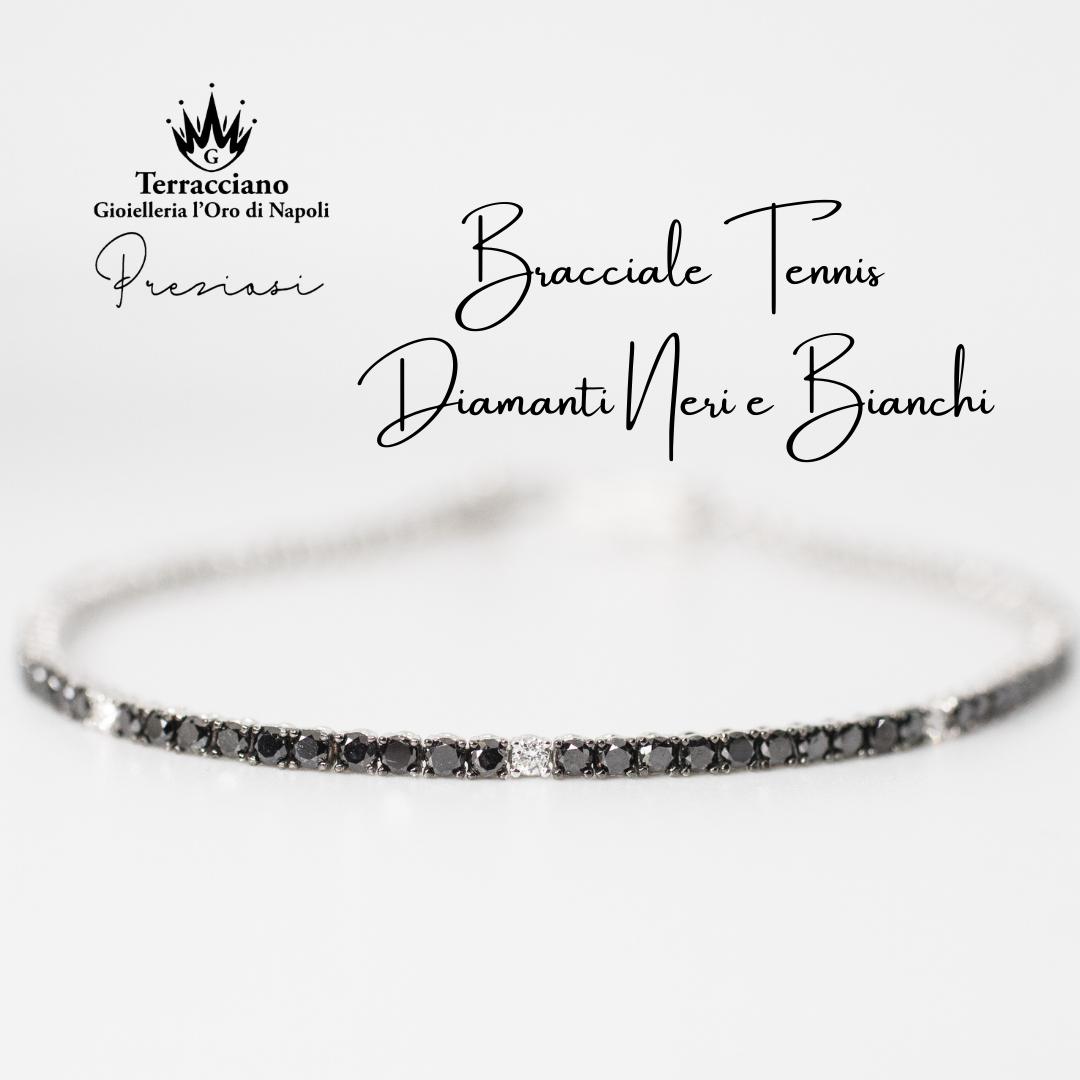 Tennis Diamanti Noir e Bianchi