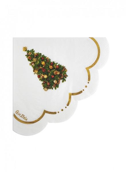 Tovaglioli CHRISTMAS LIBERTY smerlo fiore cm. 33x33