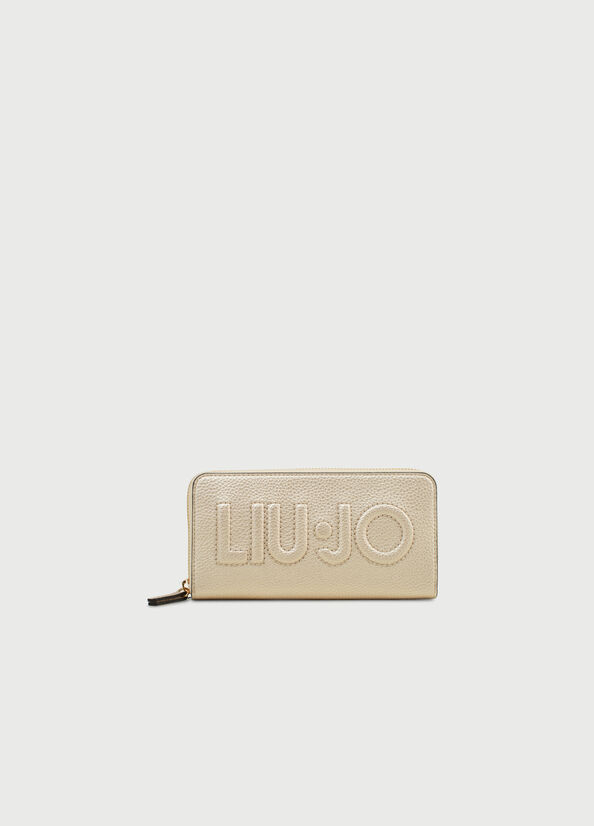 Portafoglio XL Zip Around Maxi Logo LIU JO