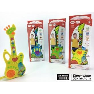General Trade La Mia Piccola Chitarrina La Chitarra Per Bambini In Diversi Colori Assortiti Con Batteria